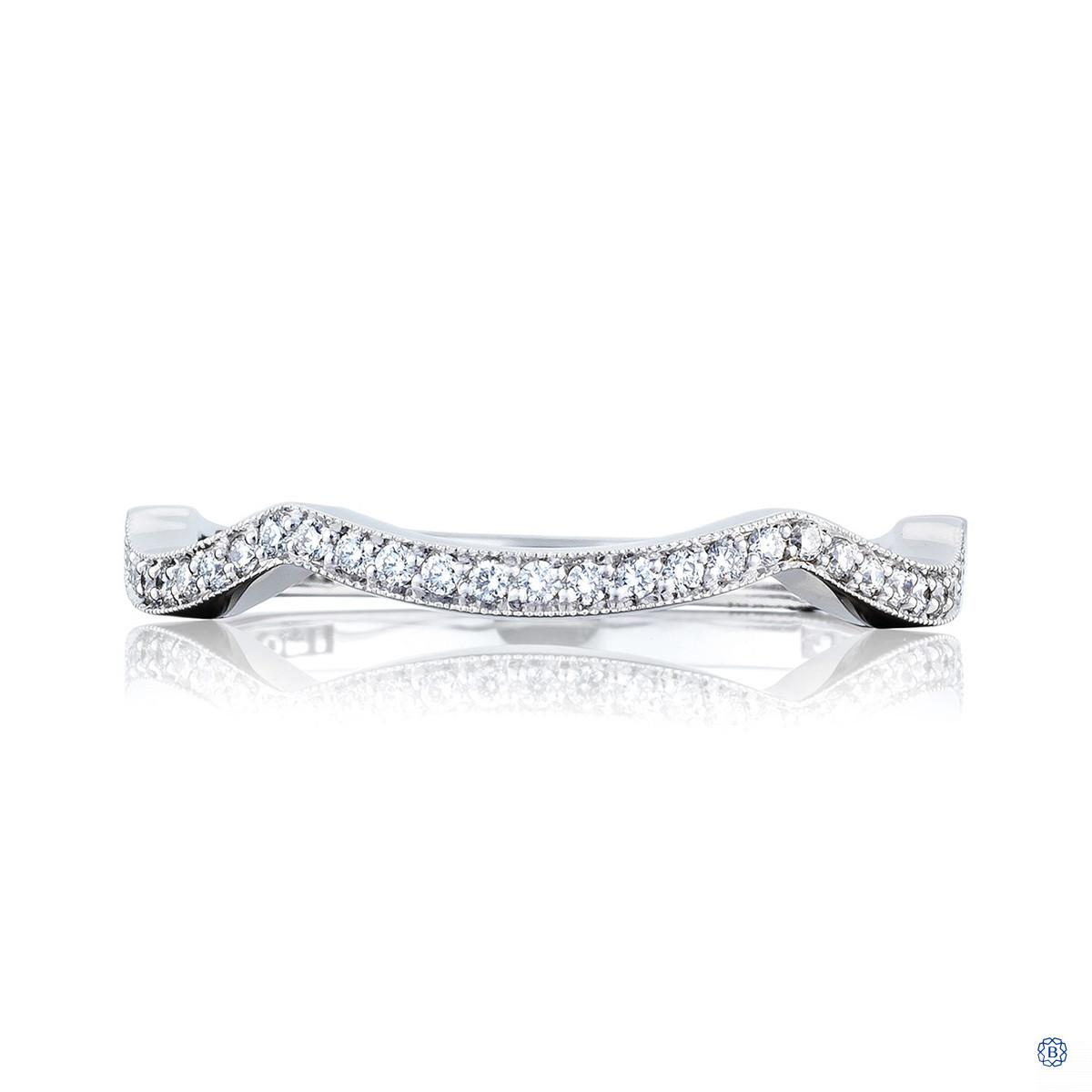 Tacori Ribbon Fitted Diamond Wedding Band