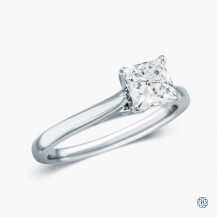 14kt White Gold 1.03ct Maple Leaf Diamond Engagement Ring