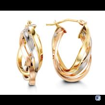 Bella 10kt Tri-Colour Hoop Earrings