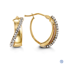 Bella 10kt Yellow and White Gold Hoops