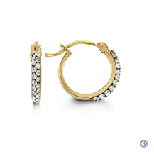 Bella 10kt two-tone hoops