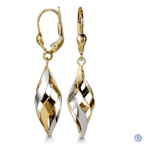 Bella 10kt two-tone earrings