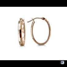 Bella 10kt Rose Gold Hoop Earrings