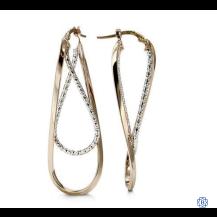 Bella 10kt two-tone gold Earrings