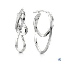 Bella 10kt White Gold Earrings