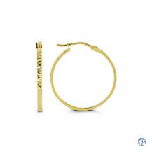 Glitter 10kt Gold Hoop Earrings