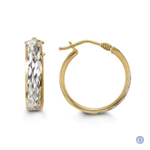Bella 10kt two-tone gold hoop earrings