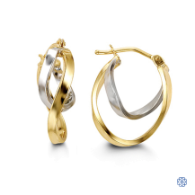 10kt two-tone gold earrings