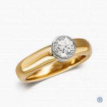14kt Yellow Gold 0.75ct Solitaire Diamond Engagement Ring