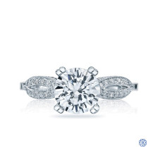 Platinum 1.54ct Diamond Ribbon Engagement Ring