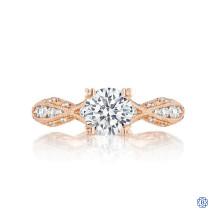 Tacori Classic Crescent 18k Rose Gold 1.05ct. Diamond Engagement Ring