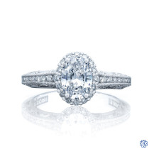 Platinum 1.00ct Diamond Reverse Crescent Engagement Ring