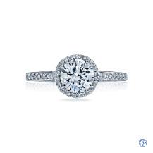 Tacori Dantela 18kt White Gold 1.00ct Diamond Engagement Ring