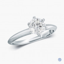 14k White Gold and 1.01ct Diamond Solitaire Engagement Ring