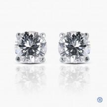 14k white gold 0.87ct diamond stud earrings