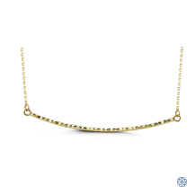 Bella Melody 10kt Gold Diamond-cut Bar Necklace