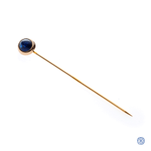 14kt Yellow Gold Custom Sapphire Pin