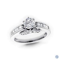 Platinum 0.78ct Round Solitaire Diamond Engagement Ring