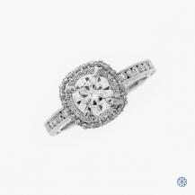 Tacori 18k white gold Moissanite engagement ring