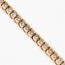 14k yellow gold 2.00ct diamond bracelet