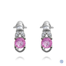 Vintage Memories: 18kt White Gold Pink Sapphire Earrings