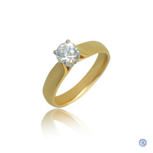 18kt Yellow Gold 0.56ct Solitaire Round Diamond Engagement Ring