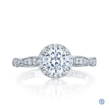 18kt White Gold Tacori Moissanite Dantela Engagement Ring