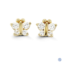 Baby Bella 14kt Butterfly Stud Earrings