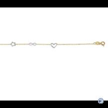 Baby Bella 10kt two tone bracelet
