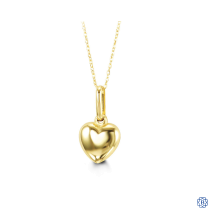 Baby Bella 10kt Gold heart pendant and chain