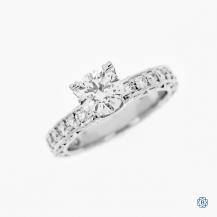Tacori Clean Crescent platinum 1.01ct diamond engagement ring