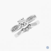 Platinum Diamond engagement ring and wedding band set