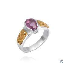 14kt White and Yellow Gold Pink Sapphire Ring