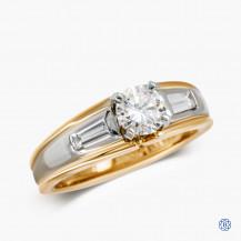 14k yellow and white gold 0.57ct diamond engagement ring