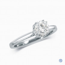 Simply Tacori 18kt White Gold Solitaire Engagement Ring with 0.70ct Round Diamond