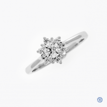 Hearts on Fire 18k white gold 0.30ct diamond engagement ring