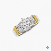 Platinum and 18kt yellow gold 1.00ct diamond engagement ring