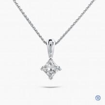 14kt white gold 1.00ct Maple LEaf Diamond Necklace