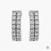 Hearts on Fire 18kt white gold diamond hoop earrings