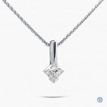 14kt white gold 0.51ct Maple LEaf Diamond Necklace