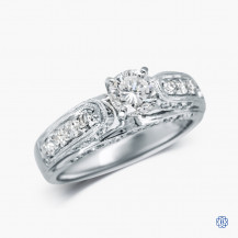 18kt White Gold 0.74ct Diamond Engagement Ring