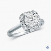 14kt white gold 0.96ct Diamond engagement ring