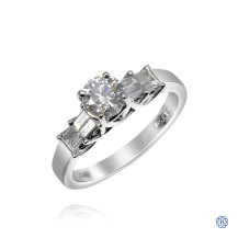 18kt White Gold 0.61ct Round Diamond Engagement Ring
