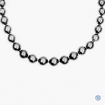 14kt white gold clasp Tahitian pearl necklace