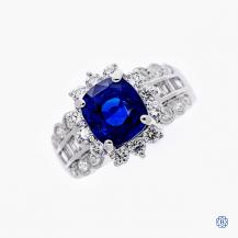 18kt Sapphire Diamond Ring