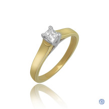 18kt Yellow Gold 0.34ct Solitaire Princess Diamond Engagement Ring