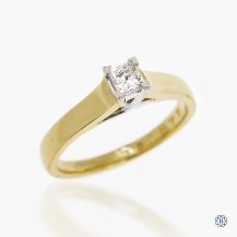 18kt Yellow And White Gold 0.34ct Diamond Engagement Ring