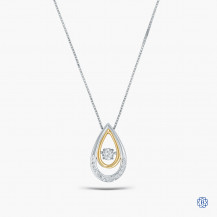 10kt White and Yellow Gold Diamond Pendant with Chain