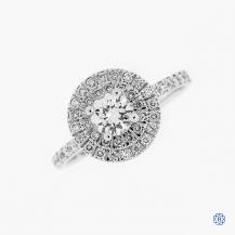 14k white gold 0.45ct diamond engagement ring