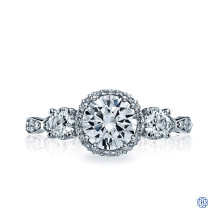 Platinum 0.85ct Diamond Dantela Engagement Ring